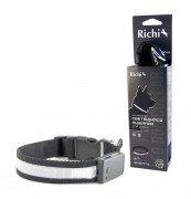 Светящийся ошейник для собак Richi USB на аккумуляторе, со светящейся лентой, (S) 32-34см