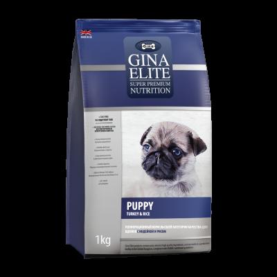 Сухой корм Gina Elite Puppy Turkey & Rice для щенков, беременных и кормящих собак