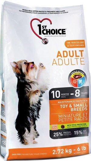 Сухой корм 1st Choice Adult Toy & Small Breeds для собак миниатюрных и мелких пород