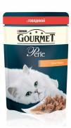 Паучи GOURMET PERLE для кошек с говядиной, 24шт x 85г