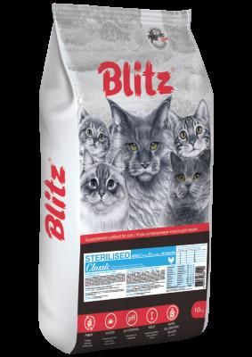 Сухой корм Blitz Classic для стерилизованных кошек с Курицей