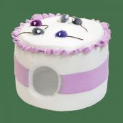 """Домик для кошек и мелких собак Зооник """"Тортик с мышками"""" из флиса (430х430х300)"""