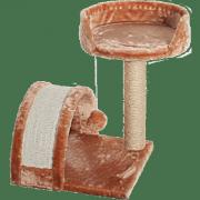 Комплекс для кошек меховой Зооник лежанка + когтеточка-дуга (540х430х530)