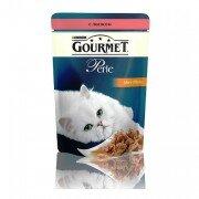 Паучи GOURMET PERLE для кошек с лососем, 24шт x 85г