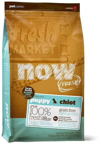 Сухой корм NOW Fresh Large Breed Puppy для щенков крупных пород беззерновой с индейкой, уткой и овощами