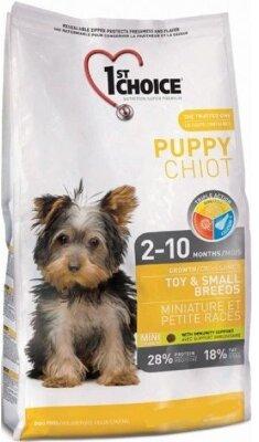 Сухой корм 1st Choice Puppy Toy & Small Breeds для щенков миниатюрных и мелких пород
