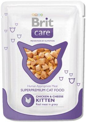 Паучи для котят Brit Care Chicken&Cheese Kitten с курицей и сыром