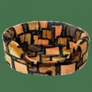Лежанка для собак и кошек Зооник поролон/мех малая с выемкой (550х380х210)