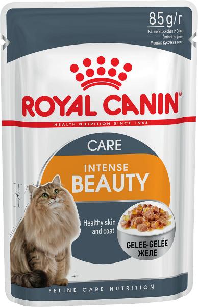 Паучи Royal Canin Intense Beauty в желе для кошек