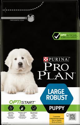 Сухой корм Pro Plan Large Puppy Robust для щенков крупных пород с мощным телосложением, с курицей и рисом