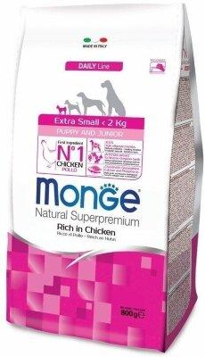 Сухой корм Monge Dog Extra Small с курицей для щенков миниатюрных пород, 800г