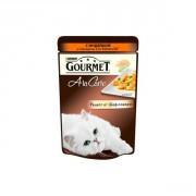 Паучи GOURMET A la Carte для кошек, Индейка с овощами, 24шт x 85г