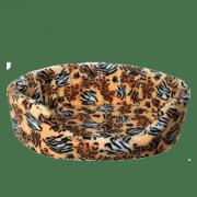 Лежанка для собак и кошек Зооник поролон/мех средняя с выемкой (750х570х260)
