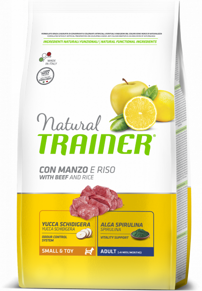Сухой корм Trainer Natural Adult Small & Toy Beef and Rice для взрослых собак мелких и миниатюрных пород с говядиной и рисом