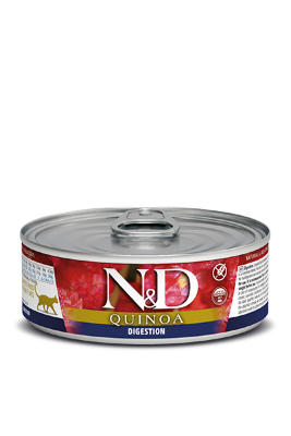Консервы Farmina N&D Quinoa Digestion для взрослых кошек, Поддержка пищеварения