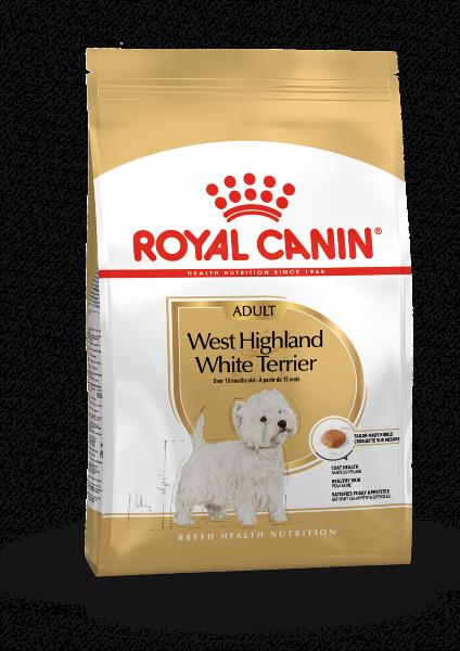 Сухой корм Royal Canin West Highland White Terrier Adult для Вест-Хайленд Уайт терьеров, 1,5 кг