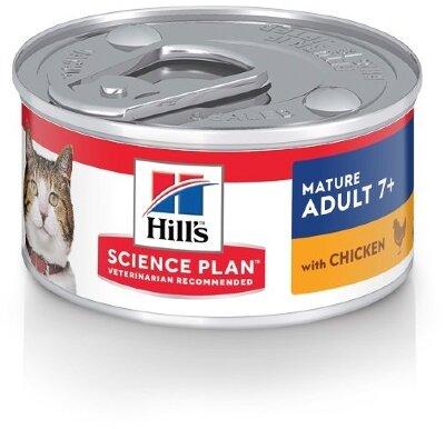 Консервы Hill's Science Plan для кошек старшего возраста, паштет с курицей, 82г