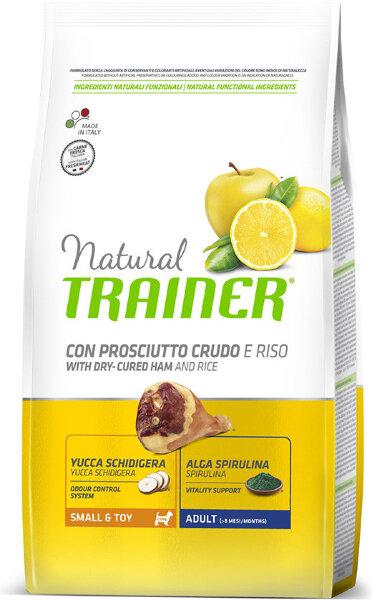 Сухой корм Trainer Natural Adult Small & Toy Dry-Cured Ham and Rice для взрослых собак мелких и миниатюрных пород с сыровяленой ветчиной и рисом