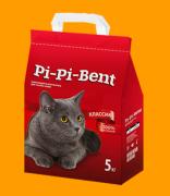 Наполнитель Pi-Pi-Bent Классик комкующийся из природного бентонита
