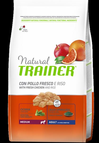 Сухой корм Trainer Natural Medium Adult - Fresh Chicken and Rice для взрослых собак средних пород с курицей и рисом