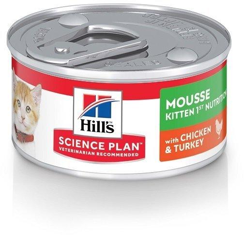 Мусс Hill's Science Plan 1st Nutrition для котят с курицей и индейкой, 82г