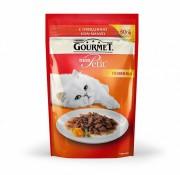 Паучи Gourmet Mon Petit для кошек с говядиной, 30шт x 50г