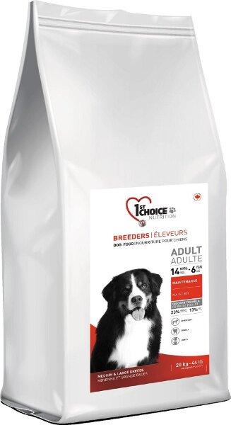Сухой корм 1st Choice Breeders Adult для собак средних и крупных пород, 20кг