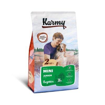 Сухой корм Karmy Mini Junior Индейка для щенков мелких пород