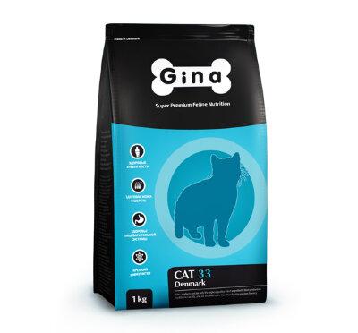 Сухой корм Gina Denmark Cat-33 для активных и выставочных кошек