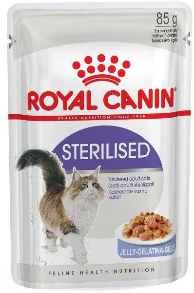 Паучи Royal Canin Sterilised в желе для стерилизованных кошек