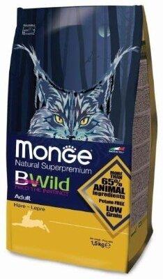 Сухой корм Monge Bwild Cat Hare с мясом зайца для взрослых кошек