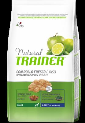 Сухой корм Trainer Natural Maxi Adult - Fresh Chicken and Rice для взрослых собак крупных пород с курицей и рисом