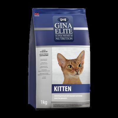 Сухой корм Gina Elite Kitten для котят, беременных и кормящих кошек