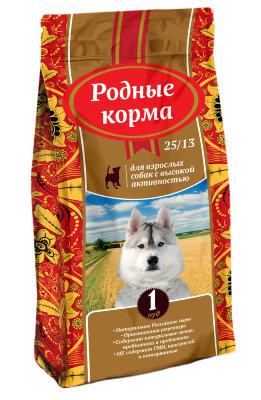 Сухой корм Родные Корма 25/13 сухой корм для взрослых собак с высокой активностью