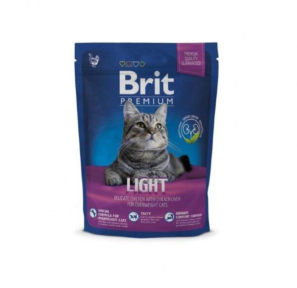 Сухой корм Brit Premium Cat Light для кошек, склонных к излишнему весу