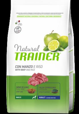 Сухой корм Trainer Natural Maxi Adult - Beef and Rice для взрослых собак крупных пород с говядиной и рисом