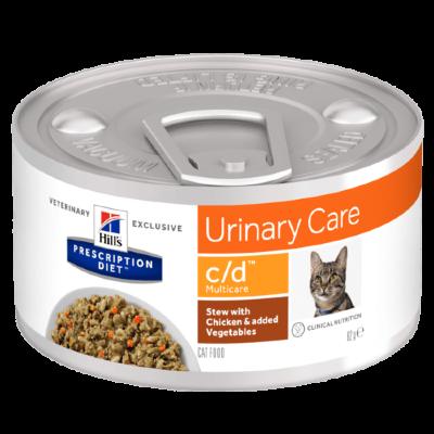 Консервы для кошек Hill's Prescription Diet c/d Multicare при урологии, Рагу с курицей и овощами, 24шт x 82г