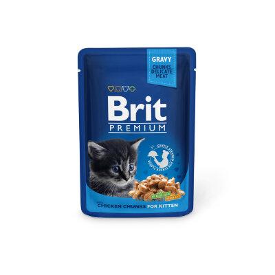 Паучи для котят Brit Premium с курицей, 100г
