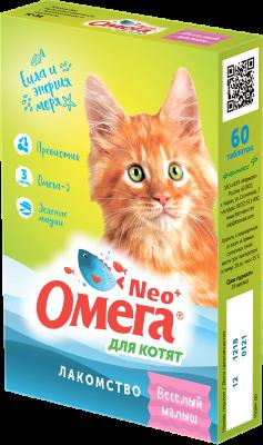 Витамины для котят Омега Neo с таурином и L-карнитином, 60 таб