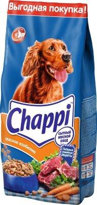 Cухой корм для собак Chappi Сытный мясной обед, мясное изобилие