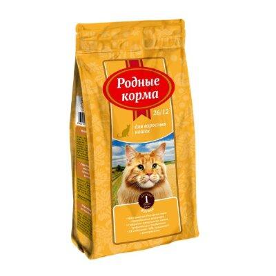 Сухой корм Родные Корма 26/12 для взрослых кошек с курицей