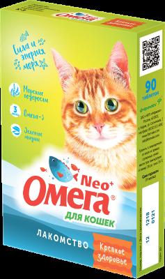 Витамины для кошек Омега Neo морские водоросли, 90 таб