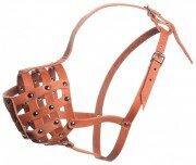 Намордник кожаный для собак породы ротвейлер Зооник № Р (ротвейлер)
