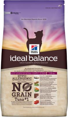 Сухой корм Hill's Ideal Balance No Grain для взрослых кошек, с тунцом и картофелем, 1.5кг