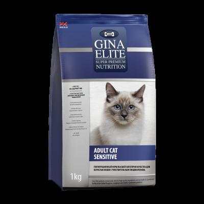 Сухой корм Gina Elite Cat Sensitive для кошек с чувствительным пищеварением