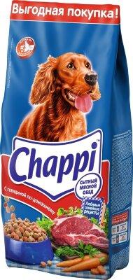 Cухой корм для собак Chappi Сытный мясной обед, с говядиной по-домашнему