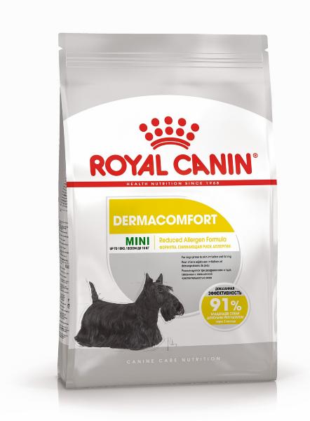 Сухой корм Royal Canin Mini Dermacomfort для собак мелких размеров с раздраженной кожей
