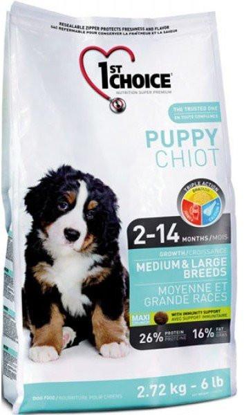 Сухой корм 1st Choice Puppy Medium & Large Breeds для щенков средних и крупных пород