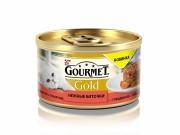 Консервы GOURMET GOLD Нежные биточки для кошек, говядина с томатом, 12шт x 85г