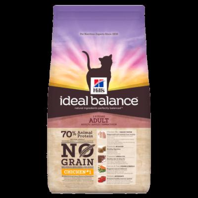 Сухой корм Hill's Ideal Balance No Grain для взрослых кошек, с курицей и картофелем
